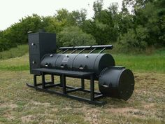 """This is a 30"""" Triple Door with a Vertical Smoking Chamber! Designed for a BBQ restaurant in MO! #HorizonSmokers"""