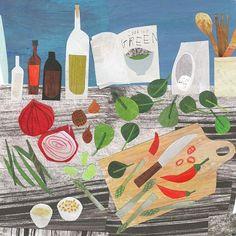 Cooking greens  #collage #illustration #papercut #foodillustration #artwork