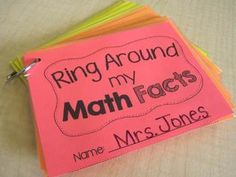 Ring Around my Math Facts! Great idea for students to practice and track their math facts! $