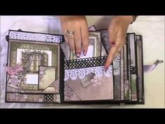 Pocket Page Tim Holtz Wallflower Mini Album, Online tutorial by Toni Darroch - YouTube