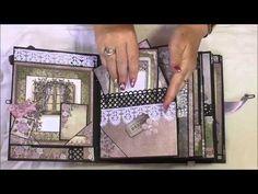 Pocket Page Tim Holtz Wallflower Mini Album, Online tutorial by Toni Darroch - YouTube