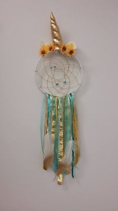 Custom made. Dreamcatchers, Craft Gifts, Unicorn, Yellow, Artwork, How To Make, Crafts, Octopus, Kid Craft Gifts