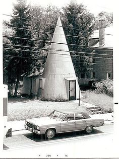 Ice Cream Cone House by 3dfotog on Flickr.  Photographed June, 1976, in Fairmont, West Virginia.