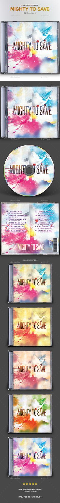 Mighty to Save CD Album Artwork - #CD & DVD Artwork Print Templates