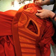 The inside of a Zac Posen dress