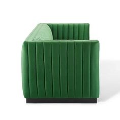 Modway Velvet Sofa EEI3885EME Emerald   Appliances Connection Velvet Tufted Sofa, Upholstered Sofa, Sofa Chair, Sectional Sofa, Sofas, Deep Couch, Seat Cushion Foam, French Sofa, Inexpensive Furniture
