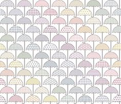 Umbrellas fabric by plaid_thursdays on Spoonflower - custom fabric Spoonflower Fabric, Umbrellas, Tea Towels, Custom Fabric, Calendar, Gift Wrapping, Wallpaper, Prints, Pattern