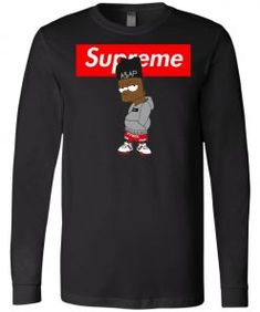 Supreme Bart Simpson ASAP Rocky Long Sleeve - Shop Supreme x The Simpson Mens Sleeve, Asap Rocky, The Simpsons, Bart Simpson, Supreme, Size Chart, Sleeves, Mens Tops, T Shirt