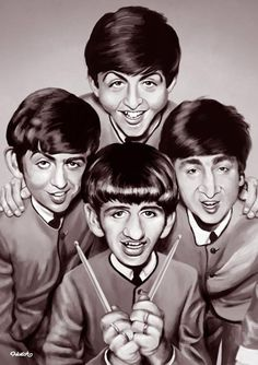 The Beatles (Caricature) http://dunway.com