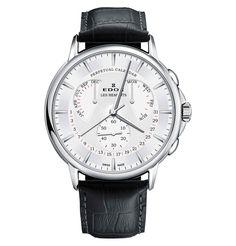 7b1adea4f Edox Horloge Les Bemonts 01602 3 AIN Silver Eeuwigdurende Kalender,  Sieraden Accessoires, Chronograaf,