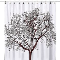 Tree Brown 70-Inch x 72-Inch Fabric Shower Curtain