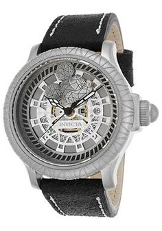 Men's Disney Limited Edition Black Genuine Leather Silver-Tone Dial