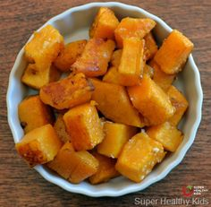 Butternut squash, like other winter squashes, are a great to include in your kids diet! no cheese please