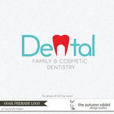 Premade Photography Logo and Watermark Design - One of a Kind - Dentist Tooth Logo - Business Branding on Etsy, $50.00