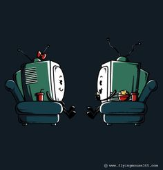 Watching TV, by Flying Mouse
