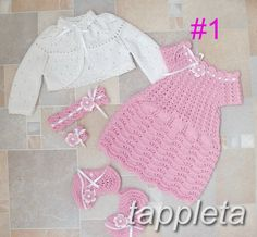 free shipping Baptism outfit for baby girl 0-12 months by tappleta