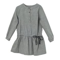 subtle checked grey dress