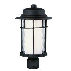 Opal Chimney Outdoor Post Top Lantern | Trans Globe at Lightology