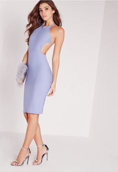 This totally babin' backless beauty is super fresh and guarantees party perfection. Make yourself the centre of the action in this lovely, featuring a backless cut out and halterneck spaghetti straps. Style with elegant heels and a square c...