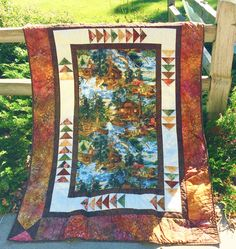 Scrap friendly lap and throw that uses a panel. Goose Chase Quilt Pattern PVQ-008 by PineRose Designs- Eileen Hoheisel.  Check out our animal & nature quilt patterns. https://www.pinterest.com/quiltwomancom/animal-nature-quilts/  Subscribe to our mailing list for updates on new patterns and sales! https://visitor.constantcontact.com/manage/optin?v=001nInsvTYVCuDEFMt6NnF5AZm5OdNtzij2ua4k-qgFIzX6B22GyGeBWSrTG2Of_W0RDlB-QaVpNqTrhbz9y39jbLrD2dlEPkoHf_P3E6E5nBNVQNAEUs-xVA%3D%3D