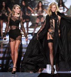 Pokaz Victoria's Secret 2014 - goście muzyczni, Taylor Swift i Karlie Kloss, fot. East News