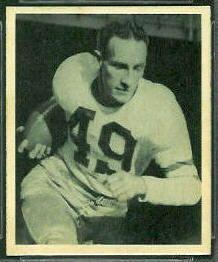 old+football+cards | ... McHugh rookie card - 1948 Bowman #25 - Vintage Football Card Gallery