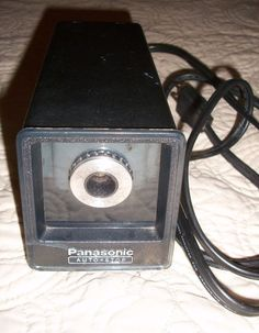 Panasonic Auto-Stop Electric Pencil Sharpener KP-77A VTG Made In Japan Tested #Panasonic