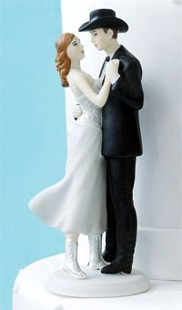 Brides: Bride & Groom Cake Topper Ideas :