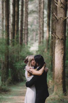 STACE + DANIEL // #wedding #bride #groom #bridal #dress #suit #bohemian #nature