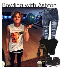 """""""Bowling with Ashton"""" by oned-bb ❤ liked on Polyvore featuring DC Shoes, 5sos, ashtonirwin, ashton and 5secondsofsummer"""