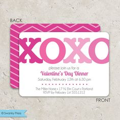 Valentine Invitations Heart Bunting  ValentineS Day