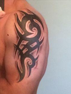 jade likes it Celtic Tribal Tattoos, Tribal Armband Tattoo, Tribal Shoulder Tattoos, Tribal Tattoo Designs, Arm Tattoo, Body Art Tattoos, Sleeve Tattoos, Tatoos, Hand Tattoos For Guys