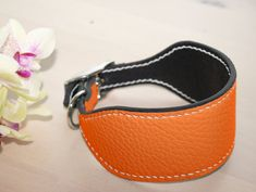 Leather Dog Collars, Italian Greyhound, Texture Design, Whippet, Leather Accessories, Etsy Shop, Belt, Orange, Trending Outfits