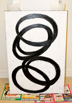 AM Dolce Vita: DIY Black and White Abstract Art