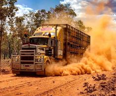 my dust cobba! my dust cobba! Kenworth Trucks, Volvo Trucks, Pickup Trucks, Peterbilt, Train Truck, Road Train, Australia Photos, Australia Travel, South Australia