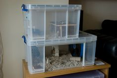 This one is very polished looking...DIY Bin Cage aka 'Chib Towers' - Hamster Central