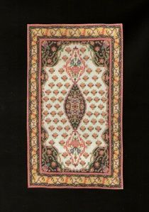Rose miniature needlepoint rug 40 stitches to the inch.  39 Kashgai Persia Carpet Kit - Designs By Phyllis Stafford
