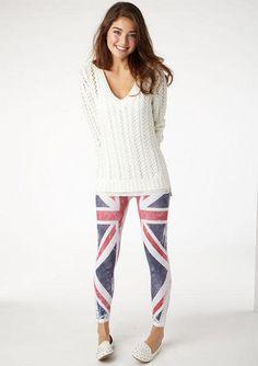 british flag leggings