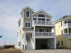 'Off Course' is a 5 bedroom vacation rental home located in Nags Head, Nc. 14' x 20' private pool (not heated), hot tub, jacuzzi, rec room w/mini-fridge.  Managed by Village Realty.  Property I.D. is NH13