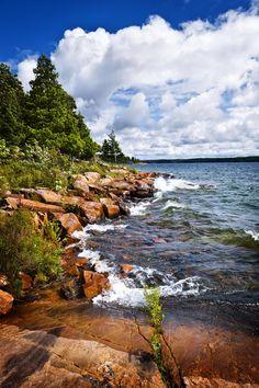 Rocky shore in Georgian Bay by Elena Elisseeva on 500px