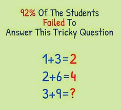 92% of students fail to answer