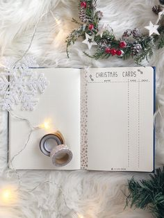 Christmas Cards list and other 6 bullet journal ideas that will make your holiday preparations merrier