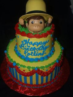 Curious+George+Cake+-+Cake+by+BeckysSweets