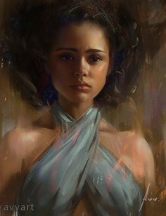 """Missandei"" by Aleksei Vinogradov {figurative art beautiful female portrait digital painting} avvart.deviantart.com"