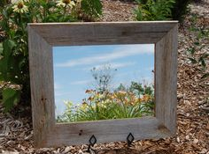 Rustic Mirror - Aspen Style With Beveled Barnwood frame by mybarnwoodframes on Etsy https://www.etsy.com/listing/482416641/rustic-mirror-aspen-style-with-beveled