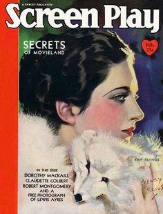Vintage Movie Magazine Cover -  Kay Francis