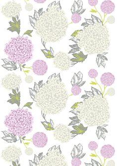 Hortensia, pink, design by Matleena Issakainen