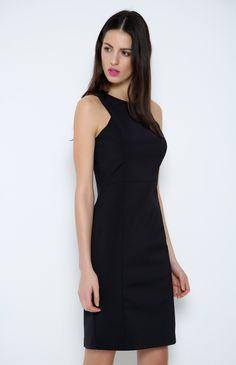 Journey mini siyah elbise