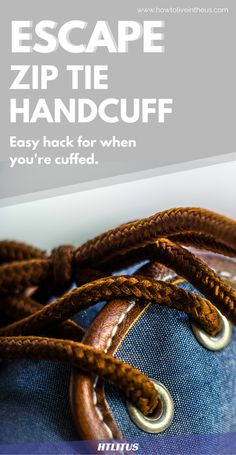 Check out this incredible life hack that could actually save your life when cuffed!