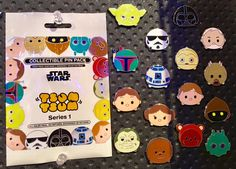 Here is a look at the Star Wars Tsum Tsum Series 1 Pin Collection! It features 16 different pins in total, available at Disney Parks. Disney Parks, Disney Fun, Disney Trips, Walt Disney, Star Wars Disney Pins, Disney Pins Sets, Disney Pin Trading, Aniversario Star Wars, Collection Disney